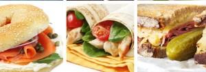 choix de sandwichs variés